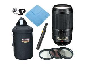 Nikon 70-300MM F/4.5-5.6G ED-IF AF-S VR Zoom Nikkor Lens + Deluxe Accessory Kit