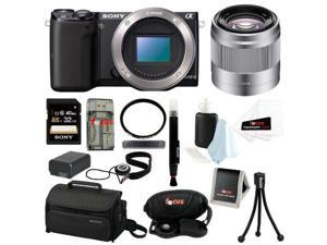 Sony NEX-5T NEX-5T/B NEX-5TB  Compact Interchangeable Lens Digital Camera (Body Only) + Sony E 50mm f/1.8 OSS Lens + Sony ...