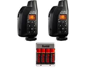 PocketWizard 801-130 Plus III Transceiver (Set of 2) w/ AA Batteries & Charger