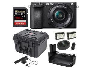 Sony Alpha a6500 24.2MP Wi-Fi Mirrorless Camera 16-50mm + 128GB Video Bundle