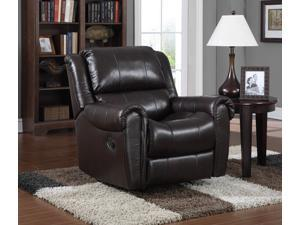Leather Rocker Recliner - Chocolate LV