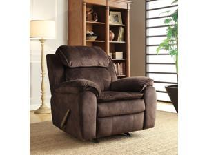 Fabric Rocker Recliner - Sharpshooter Cocoa