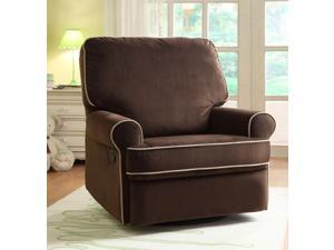 Birch Hill Swivel/Glider Recliner - Stella Coffee w/Doe Piping