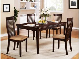 5-Piece Rectangular Dining Set (Espresso)