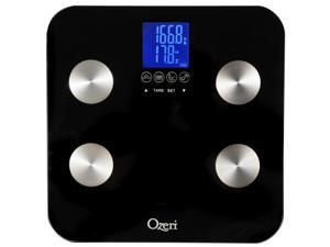Ozeri Touch 440 lbs Total Body Bath Scale – Measures Weight, Fat, Muscle, Bone & Hydration with Auto Recognition and Infant ...