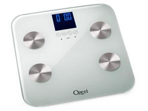 Ozeri ZB13-W2 Touch 440-lbs Capacity Digital Weight / Body Fat / Hydration /Muscle Bone Mass Bathroom Scale (White)