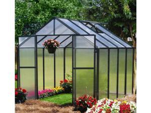 Monticello 8ftx4ft Greenhouse  Extension - Black