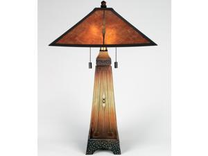 Quoizel 2 Light Amber Table Lamp in Combo - MC6793M