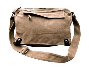 Otium 20228RCF Leisure Canvas Cross-Body Messenger Bag - Coffee