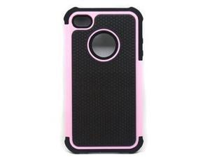 Pink 3 in 1 Protective Hybrid Hard Rubberized Silicone Case Featuring 3 Ultra Durable Layers for Extreme Protection For Apple ...