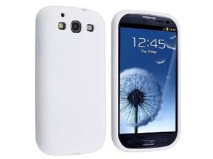 HJX White Silicone Skin Case Cover for Samsung Galaxy S3 III i9300 Android Smartphone Mobile Phone