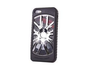 "HJX Silver/Black iphone 4/4s 3D ""Car Wheel"" Racing Hard Shell TPU Rubber Bumper PC Back Plate Rigid Case Cover for iPhone ..."