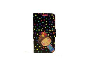 HJX Note 2 N7100 New Cute Cartoon Girl And Bird Flip Wallet Case Cover Stand with Credit ID Card Holder for Samsung Galaxy ...