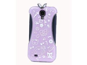 HJX Purple S4 i9500 Noctilucent China Style Traditional Long Cheongsam Hard Back Case Cover For Samsung Galaxy S4 i9500 SIV