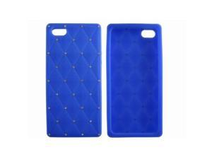 Blue Fashion Fancy Rhinestone Bling Star Protective Silicone Case Cover Skin for iPhone 5 5G 5th