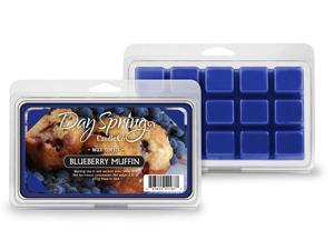 Fresh Baked Blueberry Muffin Scent Tart Burner Candle Melts Dayspring 15 Piece