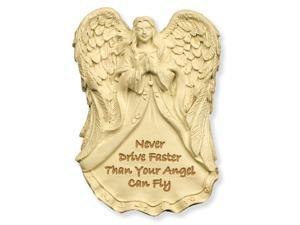 Angel Star Never Drive Faster Than Your Guardian Angel Can Fly Visor Clip 15775