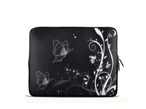 "Black&Butterfly 14"" 14.4"" inch Notebook Laptop Case Sleeve Carrying bag for Lenovo Y470 Y480/ASUS A43 N46 X84/Samsung 530 ..."