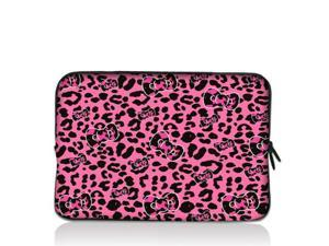 "Pink Leopard bow 9.7"" 10"" 10.2"" inch Laptop Netbook Tablet Case Sleeve Carrying bag For iPad/Asus EeePC/Acer Aspire one/Dell ..."