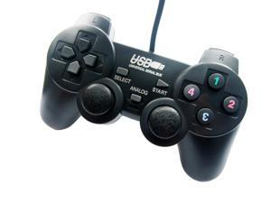 Black USB Vibration Shock Gamepad Game Controller Joystick Joypad Game Pad PC Computer