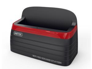 Unitek Y-3653 Wi-Fi SATA III HDD/SSD Docking Station with 12V/2A Power Adapter, Wireless HDD Docking
