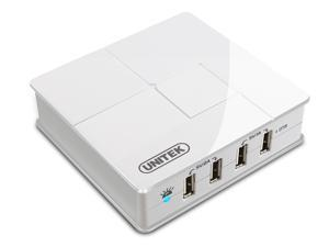 Unitek Y-2154 4-port USB Charging Station with OTG Function for iPhone, iPad, Mobile Phones and Tablets, USB Wall Charger