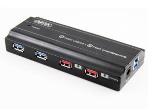 UNITEK Y-3181 USB3.0 6-Port Hub+2 iPad Charging Port,12V/4A Power Adapter