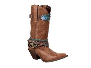 "Durango Western Boots Womens 12"" Crush Straps 6 M Brown DCRD145"