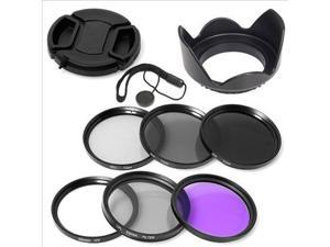 Filter Set + Lens Hood 52mm for Nikon D800 D600 D300S D7000 D5200 D5100 LF133