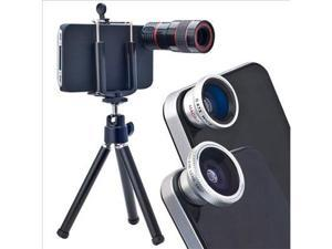 4in1 Lens Kit for iPhone 4S 4 (8X Telephoto+Fish Eye+Wide Angle+Macro Lens) DC74