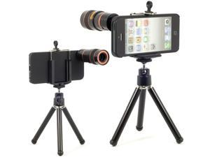 Optical 8x Zoom Telescope Lens + Tripod with Case Camera For iPhone 5 5G DC226