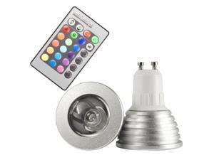 3W GU10 16 Colors Changing RGB LED Light Bulb Remote Control Home Lighting LD129