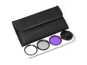 3x 52mm FLD UV CPL Circular Polarizing Filter for Nikon D3100 D5100 18-55mm LF63