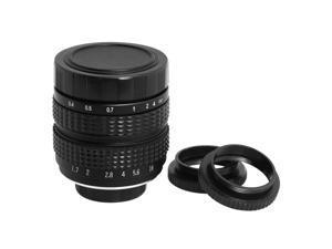 35MM F1.7 TV Movie Lens CCTV Lens C Mount C-Mount Macro Ring Free Gift New LF8