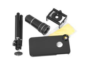 10x 246M Zoom Phone Camera Telescope Lens + Tripod Case For iPhone 4 G 4S DC137B