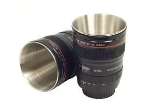 2pcs 80ml Camera EOS EF 24-105mm Lens Mug Stainless Steel Tea Cup Best Gift DC237