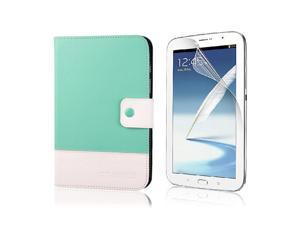 Magnet Blue Stand Case Skin + Protect Film For Samsung Tab N5100 N5110 PC497L