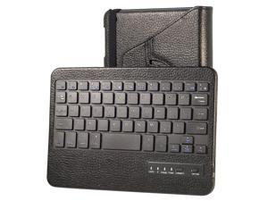 Bluetooth Wireless Detachable Keyboard PU Leather Stand Case for IPAD MINI PC421