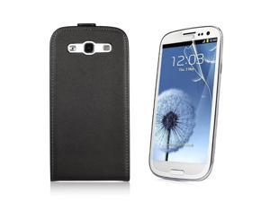 Flip Leather Case Cover For Samsung Galaxy S3 III i9300 + LCD Guard PC438B