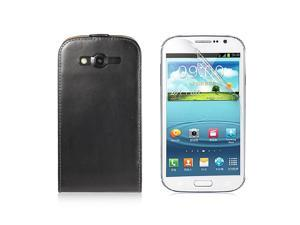 Faux Leather Case Cover For Samsung Galaxy i9080 9082 Grand Duos Black PC440B