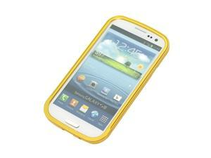 Metal Aluminum Frame Bumper Case for Samsung Galaxy S3 GT-i9300 yellow PC251Y-NE1