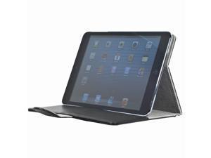 Black Flap PU Leather Folio smart Case Pocket Card Slots for iPad Mini PC349B