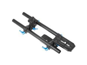 Rail System 15mm Rod Rig Baseplate Support Follow focus for Nikon D800 D4 LF205