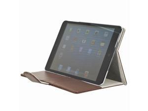 Brown Flap PU Leather Folio smart Case Pocket Card Slots for iPad Mini PC349Z