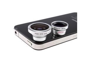 Fish Eye Lens + Wide Angle Micro Lens Kit for Samsung Galaxy S II 2 I9100 DC110