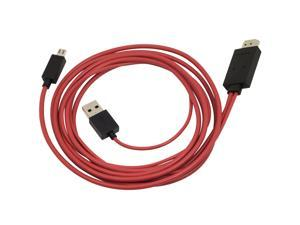 WholeSale 50 pcs 1080P MHL Micro USB to HDMI HDTV ADAPTER CABLE FOR SAMSUNG GALAXY S3 I9300 AC74x50
