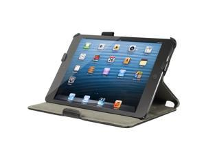 Carbon fiber Leather Smart Cover Hand Strap Case Stand for New iPad mini