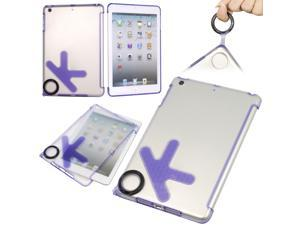 Purple ok design silicone TPU case cover for ipad mini hard back skin new PC342P