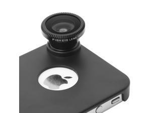 180° Fisheye Fish Eye Detachable Lens + Back Cover Case For iPhone 4S 4G DC127