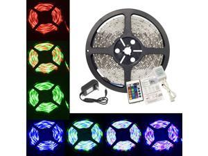 5M SMD 3528 RGB LED Strip light 12V 2A Power Waterproof 24key controller LD112S